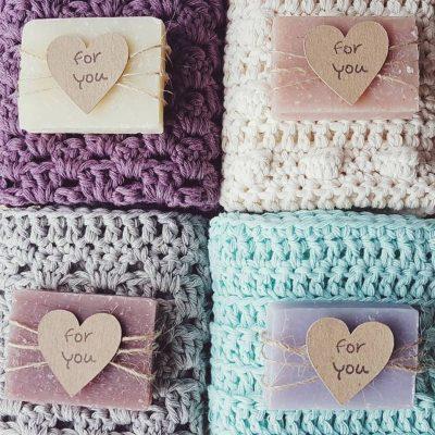Crochet cotton wash cloths