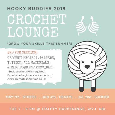 Hooky Buddies Crochet Lounge BOOK SUMMER TERM FOR £5 OFF