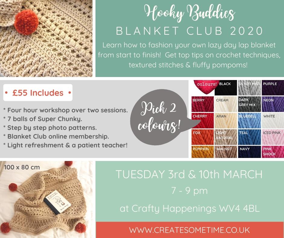 Hooky Buddies Blanket Club Crochet Workshop West Midlands