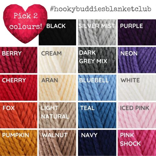 Hooky Buddies Blanket Club Colour Choices